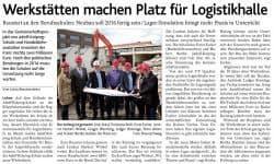 Baustart auf dem Gelände der Adolf-Kolping-Schule