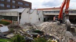 Die Arbeiten auf der Baustelle an der Adolf-Kolping-Schule gehen voran