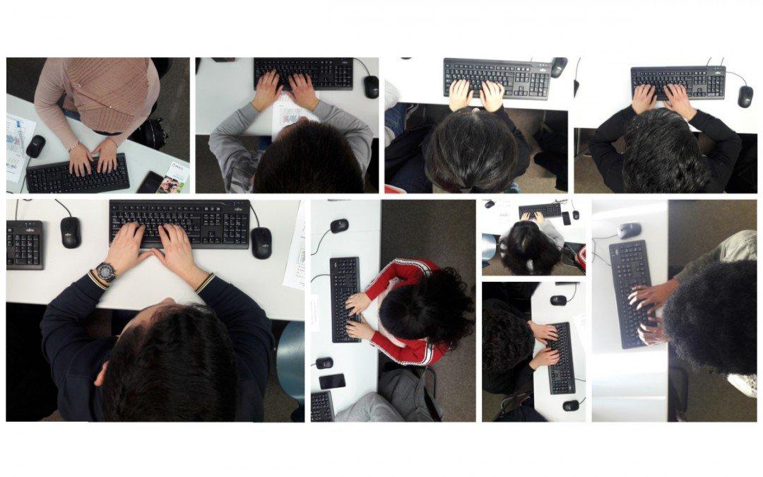 Ein-Finger-Suchsystem ade: BEK-Lernende absolvieren Tastaturschreib-Kurs