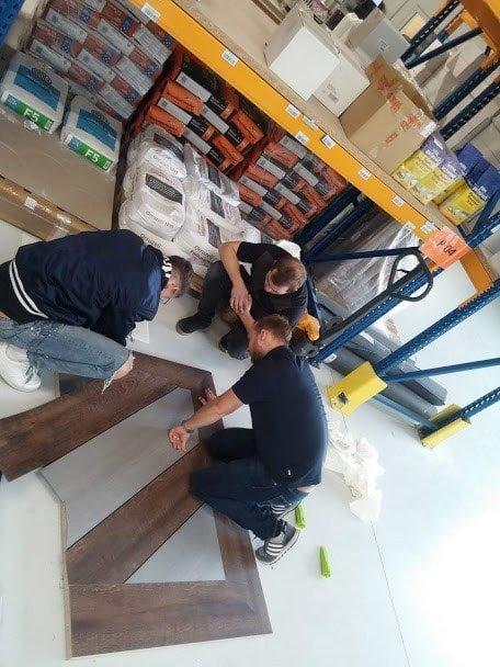 Maler besuchen Bodenschulung