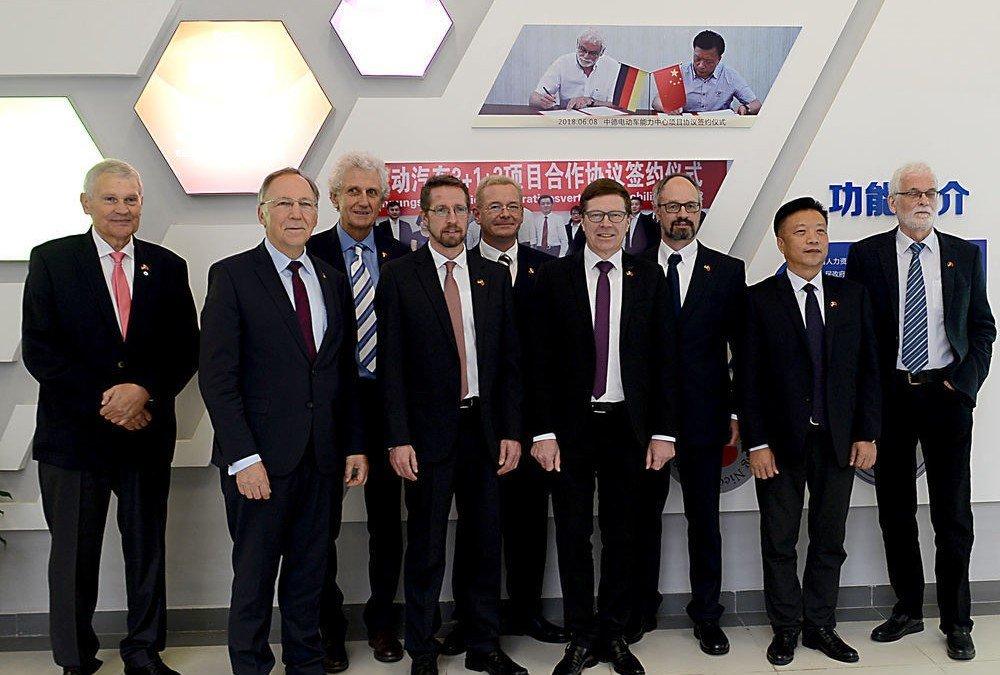 AKS-Delegation bei Einweihung des chinesisch-deutschen beruflichen Kompetenzzentrums für E-Mobilität in Yizheng