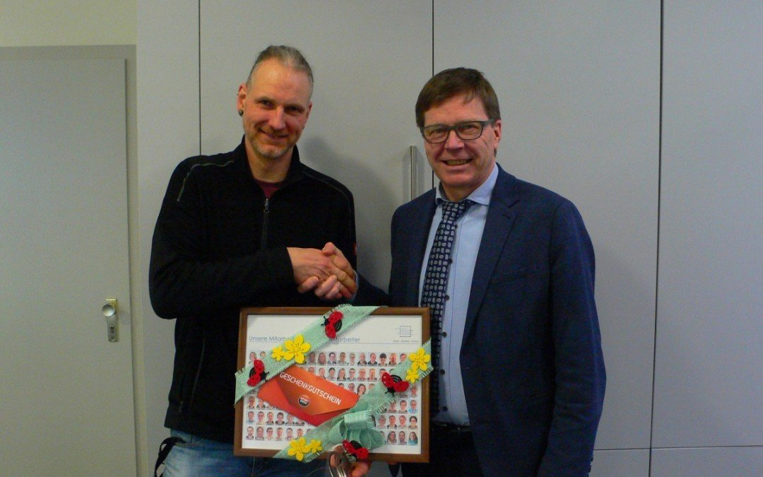 Verabschiedung von Hausmeister Markus Deeken