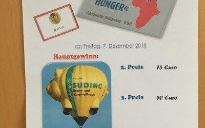 """Alljährlicher Losverkauf für """"Sportler gegen Hunger"""" beginnt"""