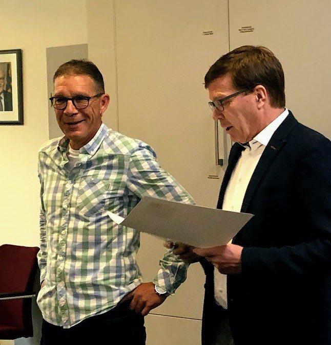 Andreas Brand feiert 25-jähriges Dienstjubiläum