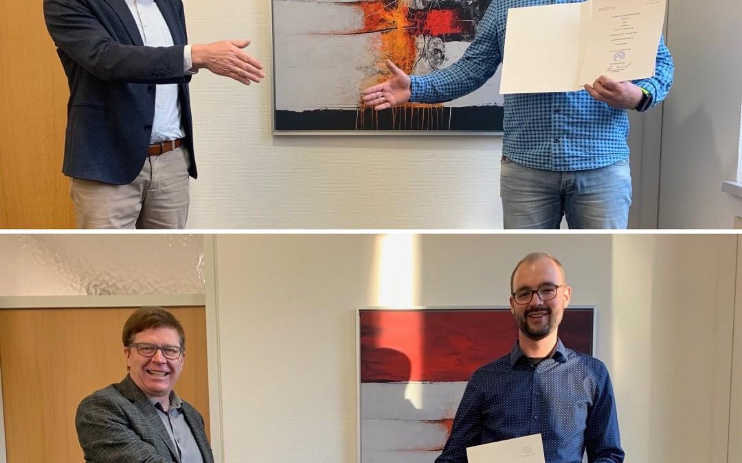 Gerrit Büssing und Stefan Kruse auf Lebenszeit verbeamtet